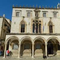 el palacio renacentista gótico Spnza en Dubrovnik