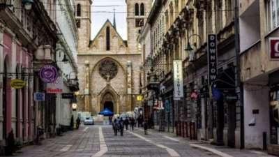 centro di sarajevo - cattedrale cattolica del cuore sacro