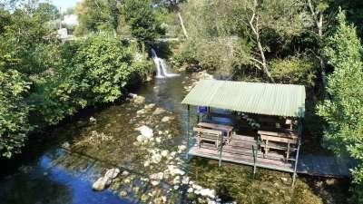 la vista del río Ljuta en Konavle