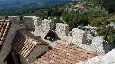 fortaleza Halcón con el museo en Konavle Croacia