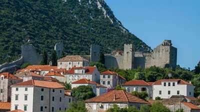Gotische Mauern von Ston