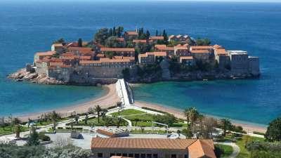 famoso en todo el mundo Santo Stefano en Montenegro