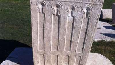 Cortile di pietre tombali a Stolac